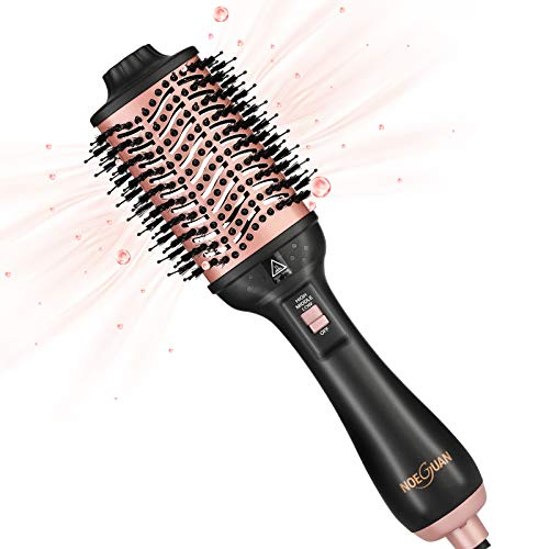 Hair Dryer Brush Hair Dryer and Volumizer Hot Air Brush 4in1 Air Hair Brush StraighteningCurling Negative Ion Ceramic for Home Travel and Salon