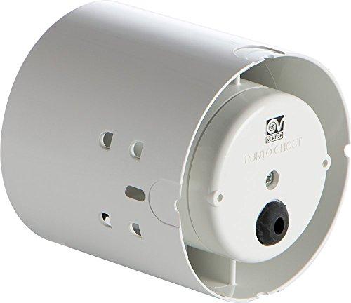 Vortice 11110 Aspiratore Elicoidale Punto Ghost Condotti, 38 Decibel, plastica, Bianco