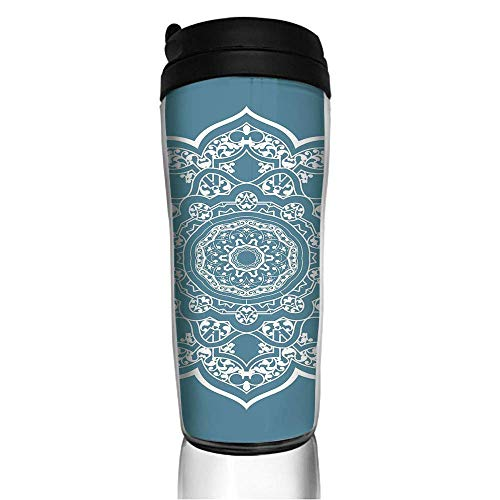 Stainless Steel Thermal Insulation Water Bottles Toast Pattern Travel Mug Non-Leaking Sports Bottles for Outdoor Running Camping Gym12 Oz/350ml with Lids
