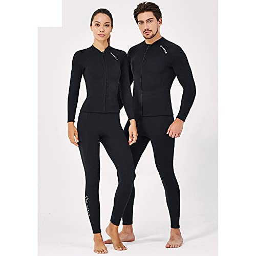 TSMALL Traje de Neopreno para Hombre Chaqueta y Pantalones de Traje de Neopreno - Conjunto de Traje de Neopreno para Mujer, Mangas largas UPF 50+ para natación,Snorkel,Surf,Kayak,Men,XXL