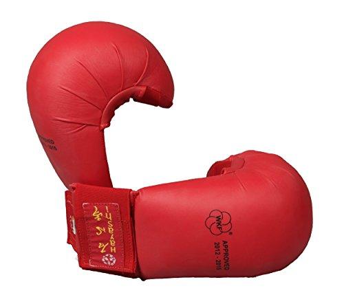 Hayashi TSUKI Offizielle WKF Karate-Handschuhe, Unisex, Erwachsene, Blau, M