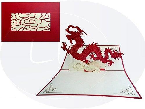 POP UP wenskaarten 3D wenskaart verzamelkaart draak (#138)