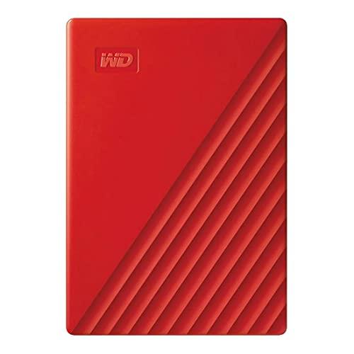 WD 4TB My Passport Portable External Hard Drive HDD, USB 3.0, USB 2.0 Compatible, Red - WDBPKJ0040BRD-WESN
