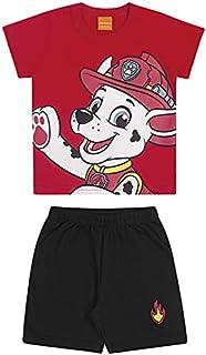 Conjunto, Camiseta e Bermuda com estampa do Marschall, Menino, Patrulha Canina