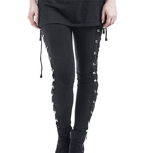 hellomiko Pantalones de lápiz de Capa Base de Encaje Punk gótico elástico...