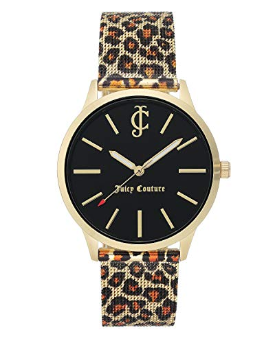Juicy Couture - Reloj de pulsera para mujer, color dorado y negro