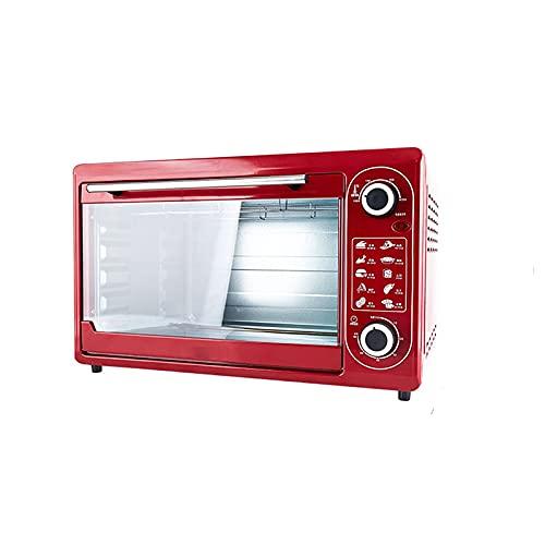 Mini hornos eléctricos / de cocción versátil / temperatura ajustable 100-250 ° / función del temporizador 0-60 minutos / accesorios incluidos / varias capacidades (48L) Tabla pequeña tostadora Horno
