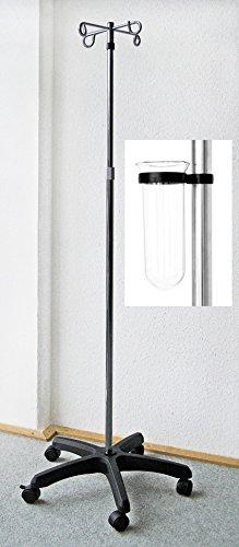 Stock-Fachmann Infusionsständer Standard 2 Ausführungen Ohne Abtropfglas Oder Mit. Hersteller Stock-Fachmann, 1 Stück, Farbe: Silber
