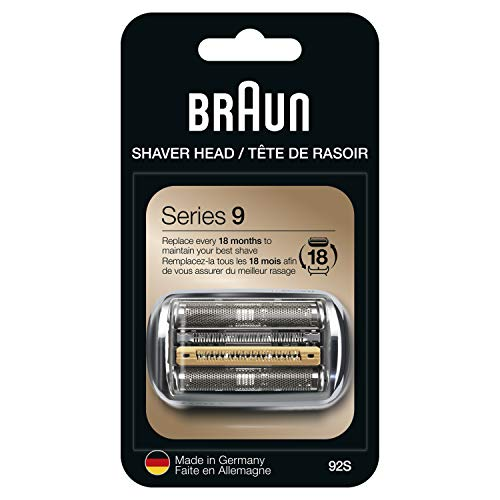 Braun Series 9 Electric Shaver Replacement Head - 92S - Compatible with all Series 9 Electric Razors 9290cc, 9291cc, 9370cc, 9293s, 9385cc, 9390cc, 9330s, 9296cc