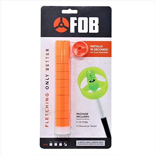 FOB Archery Quick Fletch - Micro Diameter - 12 per Pack (Orange)