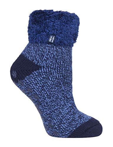 HEAT HOLDERS - 1 Paar Bettsocken Damen Stoppersocken abs antirutsch kuschelsocken socken in 8 farbig 37-42 eur (HHL15)