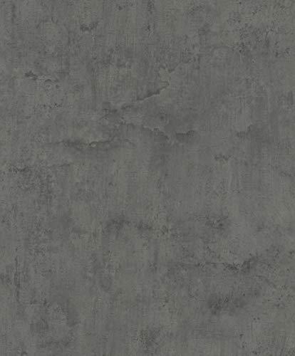 Rasch Tapeten Vliestapete (natürlich) Schwarz Grau 10,05 m x 0,53 m Tapetenwechsel 407365 Tapete, 10.05 0.53 m