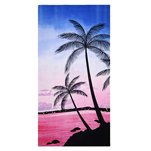GEEZY Large Microfibre Beach Bath Towel Lightweight Sports Travel Gym Summer Towels (Sunset)
