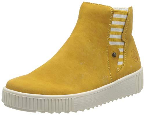 Rieker Damen Y6461 Slipper, gelb,38 EU