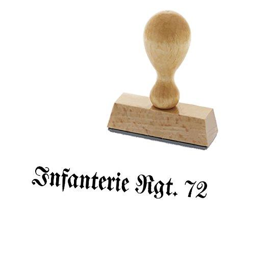 Copytec Infanterie Rgt 72 Regiment Einheit Wh Wk Offizier Stempelungen von Unterlagen Papiere Militär Stab Büro Armee - Stempel Holzstempel (3,3x0,4cm) #15017