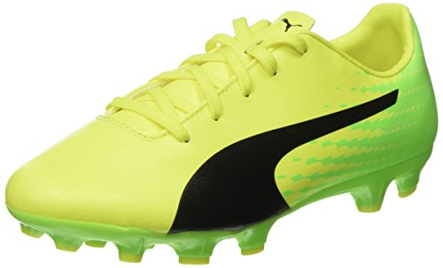Puma Unisex-Kinder Evospeed 17.5 AG Jr Fußballschuhe, Gelb (Safety Yellow Black-Green Gecko 01), 38 EU