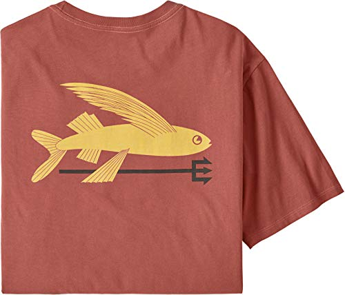 Patagonia M's Flying Fish Organic T-Shirt für Herren L Spanish red