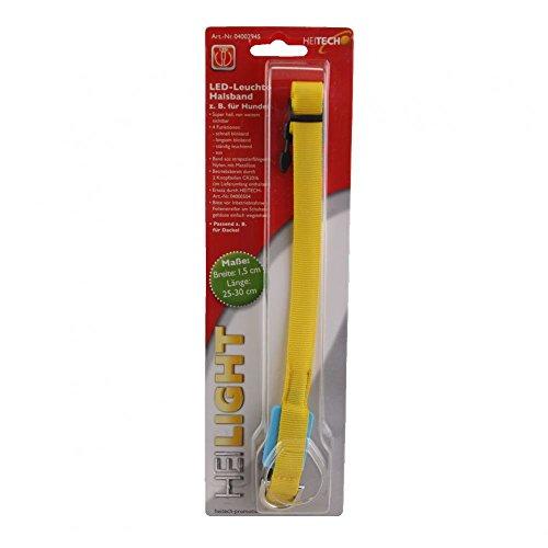 Heitech-collier pour chien lumineux à lED noir/jaune 04002945