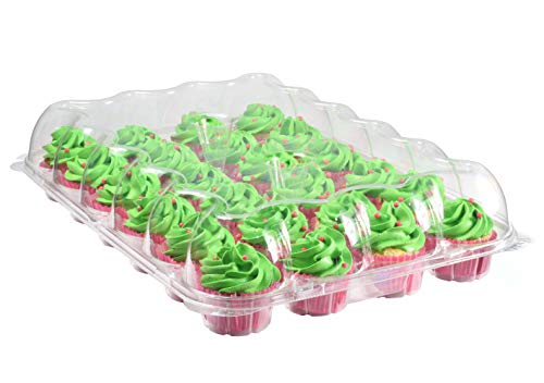 Katgely 24 Pack Cupcake Boxes - Set of 4- Plastic Cupcake Containers