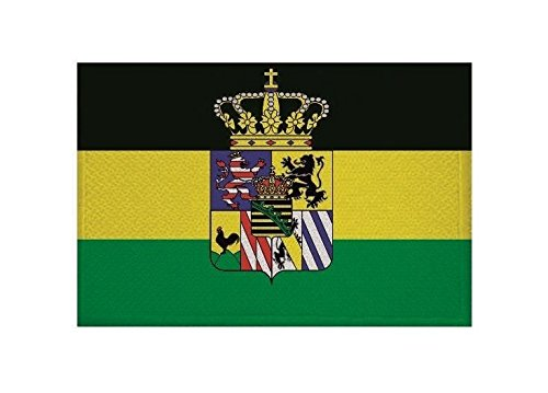 U24 Aufnäher Sachsen-Weimar-Eisenach Fahne Flagge Aufbügler Patch 9 x 6 cm