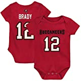 Outerstuff Infant Tom Brady Red Tampa Bay Buccaneers Mainliner Player Name & Number Bodysuit