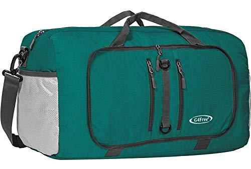 G4Free 40L Borsone da Viaggio Pieghevole Zaino Sportivo Leggero Borsa da 22 inch per Bagagli da Nuoto per Palestra Sportiva