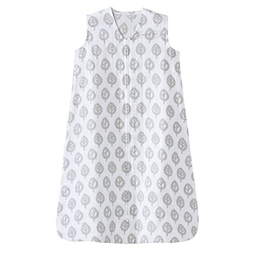 HALO 100% Cotton Muslin Sleep Sack Wearable Blanket, Gray...