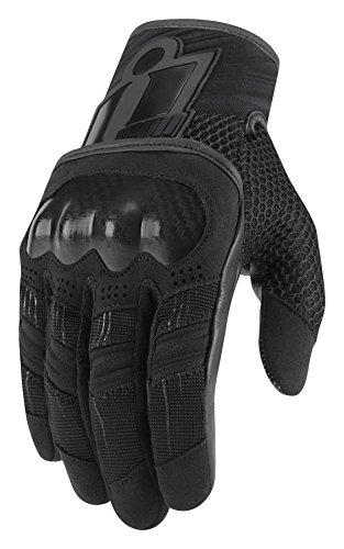 Icon Damen Overlord Touchscreen Kurze Handschuhe, Schwarz schwarz Schwarz  XS