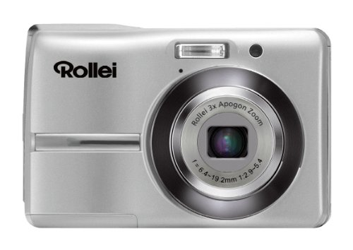 Rollei Compactline 230 Digitalkamera (12 Megapixel, 3-Fach Opt. Zoom, 6,9 cm (2,7 Zoll) Display) Silber