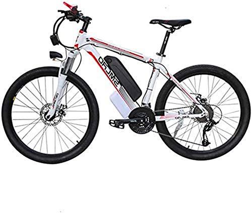 Leifeng Tower Alta Velocidad 48V Electric Mountain Bike 26 '' Fat Tire Choque E-Bici 21 Velocidades Frenos 10AH de Iones de Litio de Doble Disco de luz LED