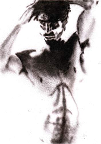 Acrylmalerei auf weißem Malpapier/Männlicher Akt / 100% handbemaltes Schwarzweiß/Signiertes Original Gay Art Sale/Sexy/Männer/Model/Guy/Art A4