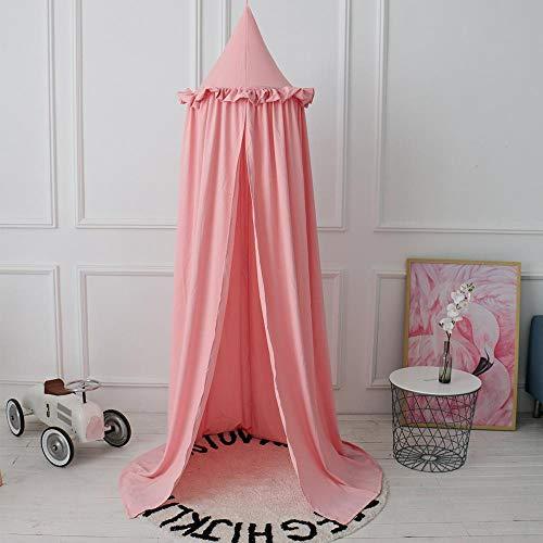 gjm Moskitonetz Tencel Baumwolle Einzeltür Kuppel Hängend Bettüberzug Baby Bettvorhang Zelt Pink