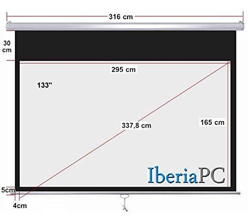IberiaPC - Pantalla proyector manual 133 de 2950 x 1650 mm formato ...