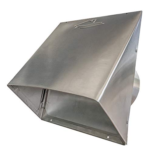 Builder's Best 84041 84031 Galvanized Steel Roof Vent Cap with Removable Screen & Damper, 4