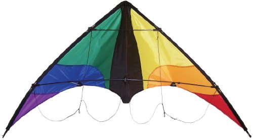 small The Breeze Colorwave 48inch Stunt Kite is a two line sport kite that includes a line and a bag.