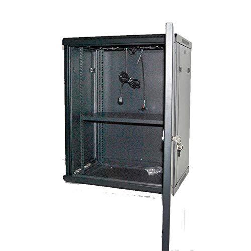 powergreen RAC-12660-HQ Armario Rack 12U 60X60 con Termostato 2 Ventiladores 1 Bandeja, Multicolor