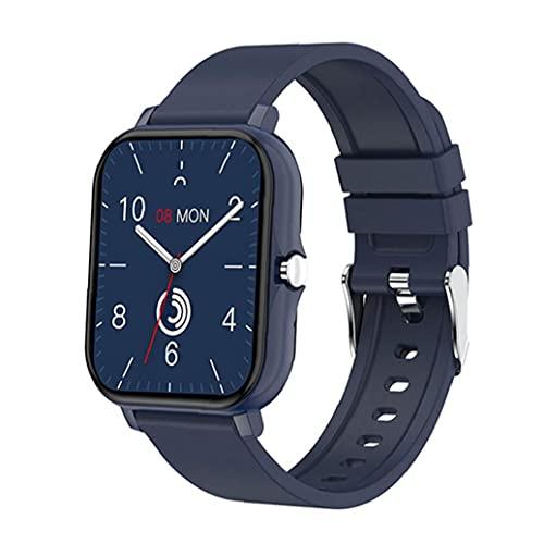 Presión Sraeriot Smartwatch Bluetooth Smart Call Banda De Frecuencia Cardíaca Sangre Deportes Rastreador De Ejercicios Para Los Hombres De Las Mujeres Azul
