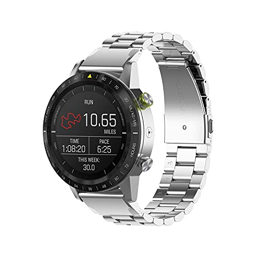 Bandas para Fenix 5 Plus Correas, Metal de banda Reemplazo rápido de reemplazo de reemplazo de negocios de acero inoxidable 22 mm Compatible con Garmin Fenix 5 Plus / Fenix 5 Smartwatch correas