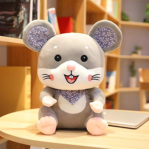 N / A Dibujos Animados Encantador Lindo sonrisita ratón Juguete de Peluche Suave Animal Relleno Gordo muñeca cumpleaños Kawaii Regalo para niño niña 28 cm