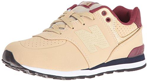 New Balance Unisex-Kinder 574 Hohe Sichtbarkeit Sneaker, - Hellbraunes Burgunderrot - Größe: 36 2/3 EU
