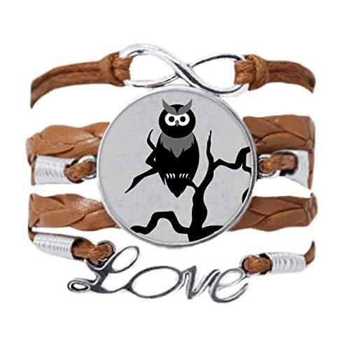 DIYthinker Owl Tree Night Time Halloween Bracelet Love Chain Rope Ornament Wristband Gift
