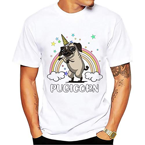 QSCESZ Rainbow T-Shirt Nouveau T-Shirt Respirant Décontracté Blanc À Col Rond