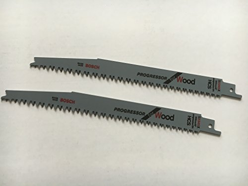 Bosch S2345X HCS - Hojas para sierra de sable (2 unidades, 1/2', 200 x 19 x 1,25 mm, para madera)
