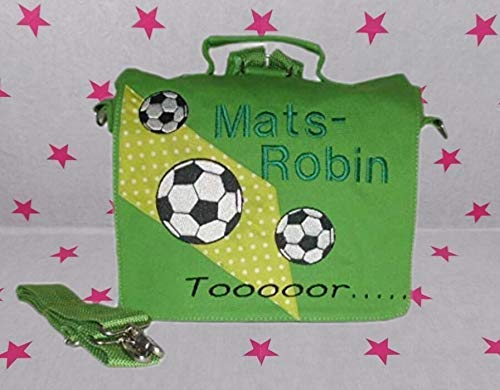 pinkeSterne ☆ Kindergartentasche Kindertasche Multi-Tasche Rucksack Umhängetasche Tor Fußball Fussball