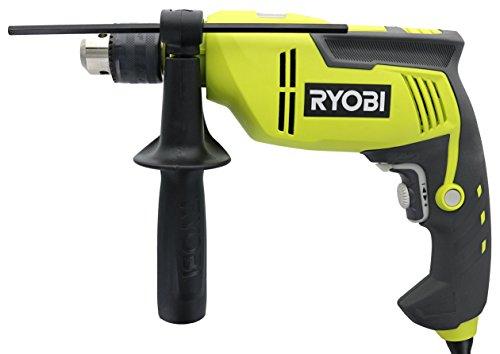 Ryobi D620H Bohrhammer mit verstellbarer Geschwindigkeit, 6,2 A, 2.700 U/min, robust, variable Geschwindigkeit, wendbar, mit Tiefenanschlagstange und Bohrfutterschlüssel