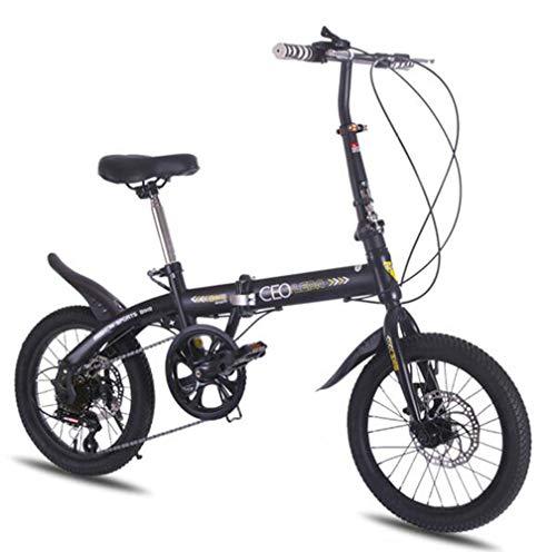 SHIN 16 Pulgadas Plegable De Aluminio Bicicleta De Paseo Mujer Bici Plegable...