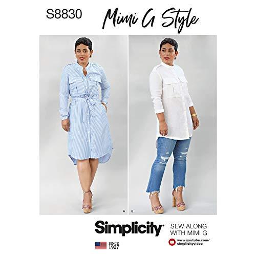 Simplicity US8830H5 Schnittmuster für Damen-Shirt, Kleid, von Mimi G Style, Größen 34-42