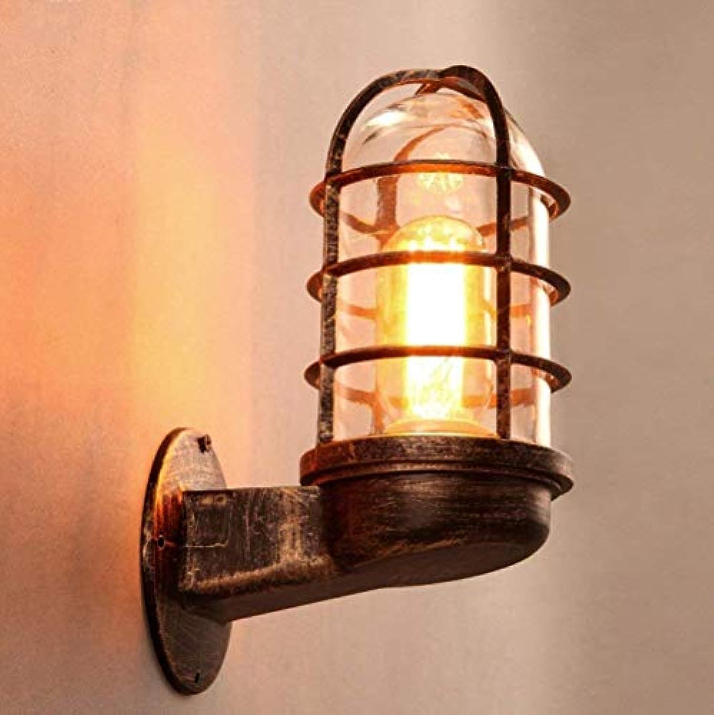 FuweiEncore Vintage Eisen Glas Schatten kreative Wand Lampe Wand Licht Korridore Restaurant Bar (Farbe   -, Gre   -)