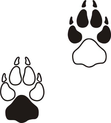 der-pferdeshop XL Hundeaufkleber Hundepfote mit Wunschtext fürs Auto HP6 (25cm)