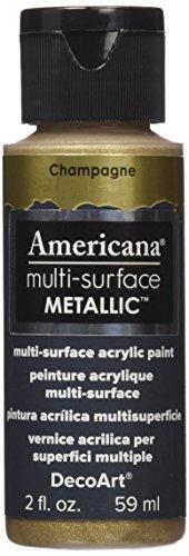 DecoArt DA554-30 Americana Multi-Surface Metallic Paint, 2-Ounce, Champagne